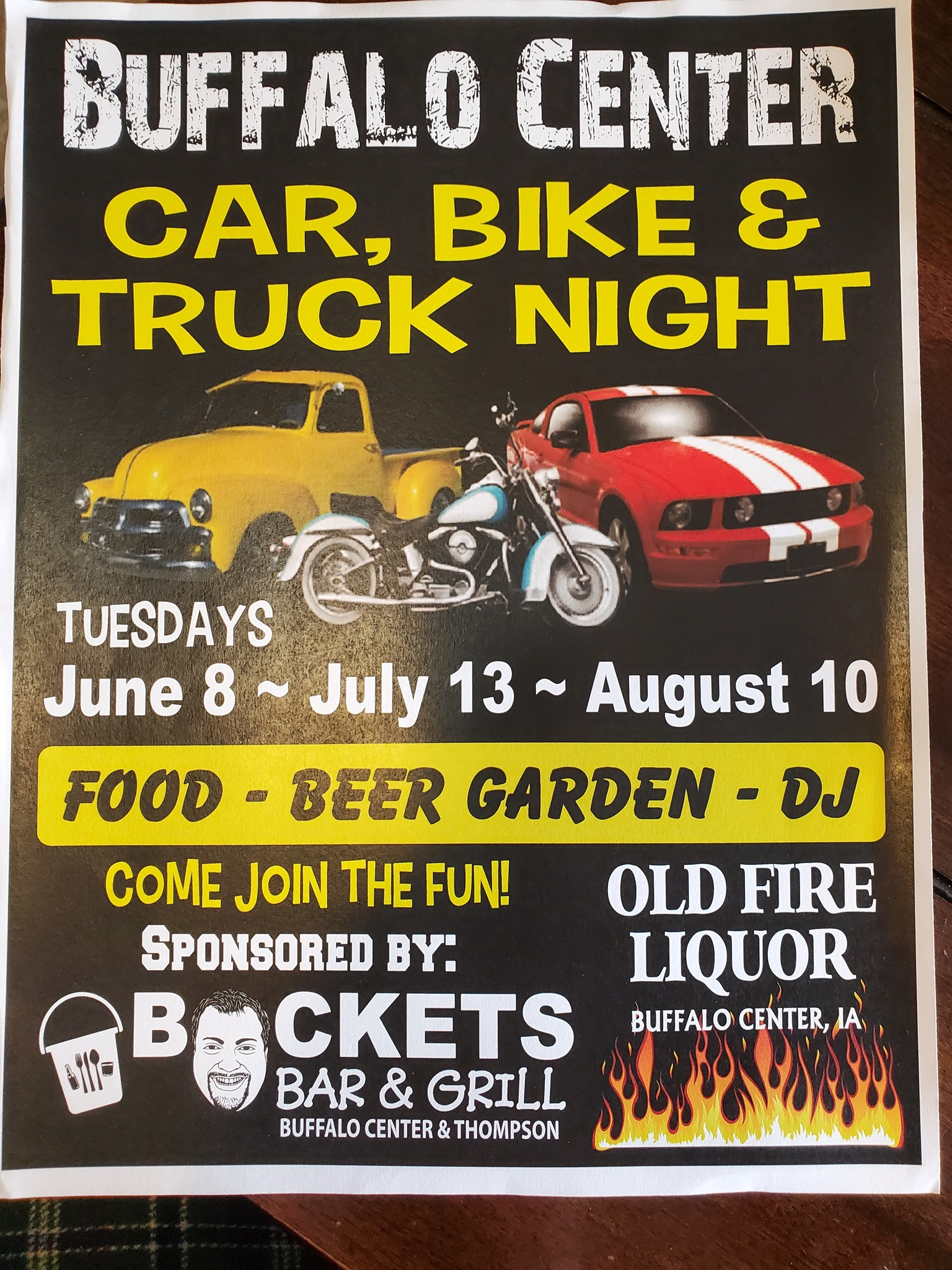 Buffalo Center Car, Bike & Truck Night Photo - Click Here to See